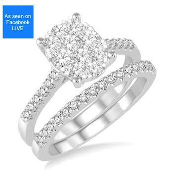 Lovebrite Diamond Oval Engagement Ring