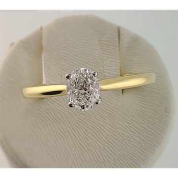 Noam Carver 14kt yellow gold 0.50ct oval solitaire