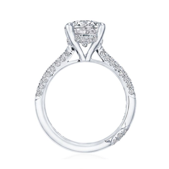 Tacori RoyalT Engagement Ring with domed pave diamond band