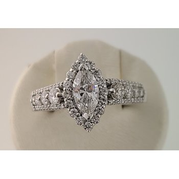 Bradley Gough Diamonds wg 3 diamond row Marquise center