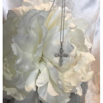 WG Diamond Cross necklace