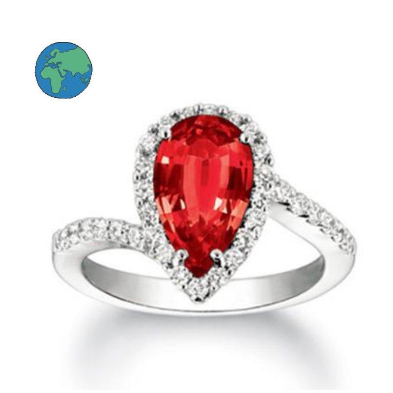 As Seen on Social Media Chatham Ruby & Diamond Ring