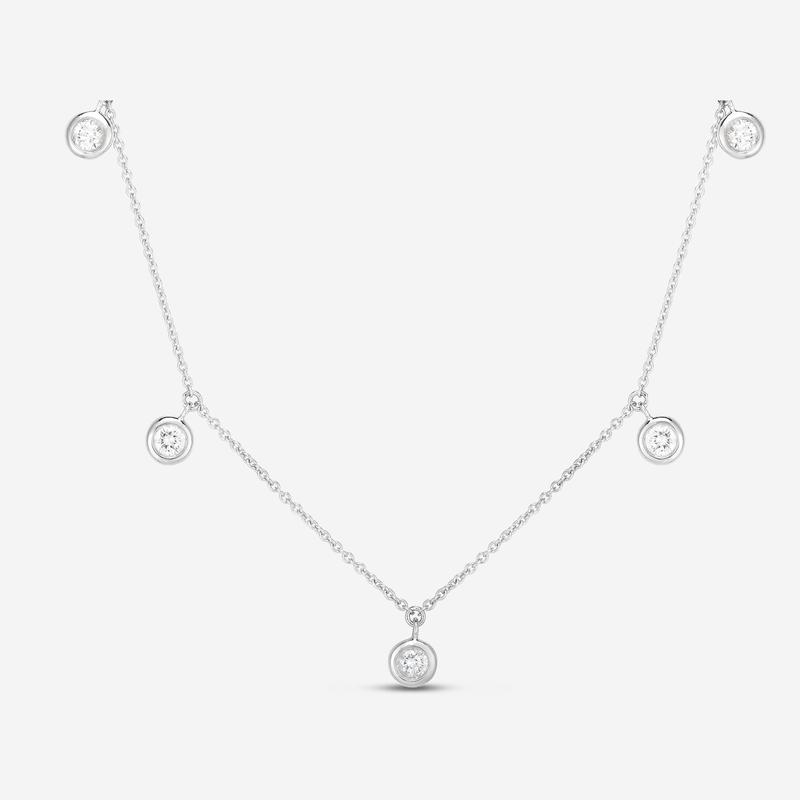 As Seen on Social Media Roberto Coin 5 station dangle diamond necklace