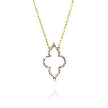 18 ky Open Pointed Diamond Station Chain