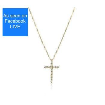 Roberto Coin YG Diamond Cross
