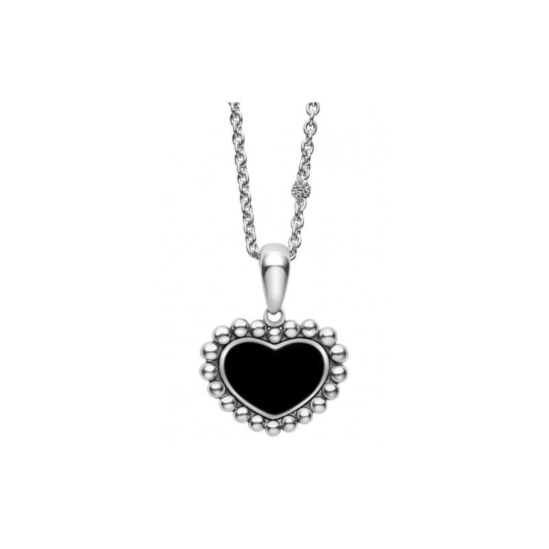 LAGOS Black Onyx Heart Necklace