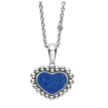 Lapis Heart Necklace