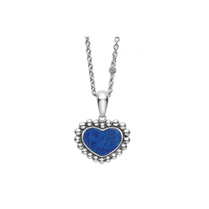 LAGOS Lapis Heart Necklace