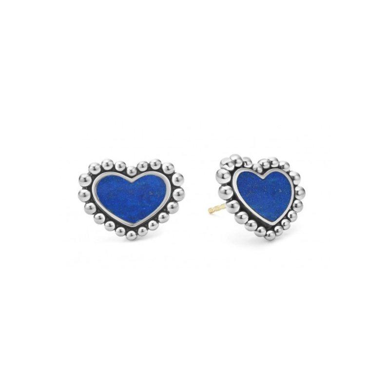 LAGOS Lapis Heart Stud Earrings