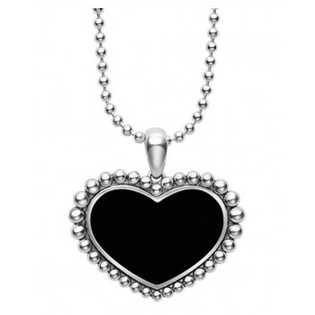 Black Onyx Heart Necklace