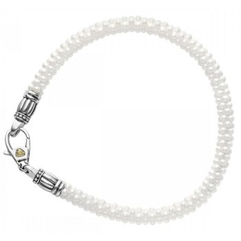 White Caviar Beaded Bracelet