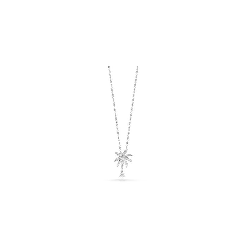 Roberto Coin 18KT Small Palm Tree Pendant with Diamonds
