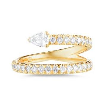 Serpent Diamond Ring