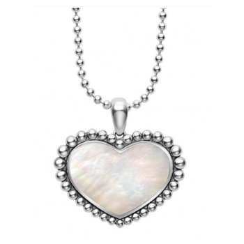 White Mother-Of-Pearl Heart Necklace