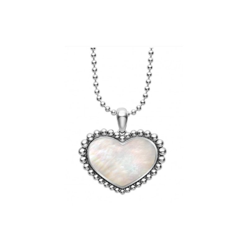 LAGOS White Mother-Of-Pearl Heart Necklace