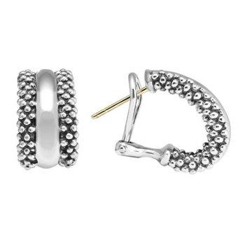 Signature Caviar Hoop Earrings