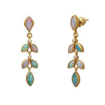 Wisteria Opal Earrings