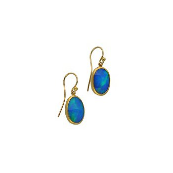 Oval Opal Earrings