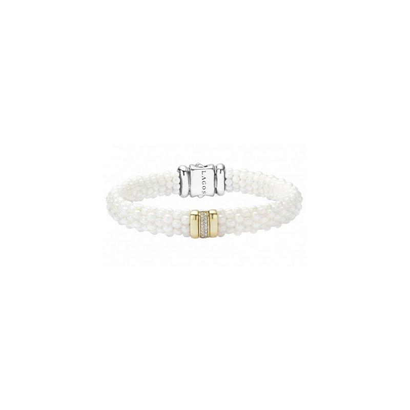 LAGOS White Caviar Diamond Beaded Bracelet
