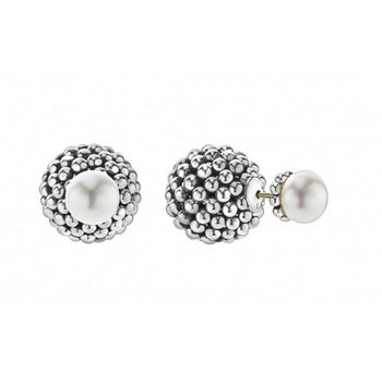 Signature Caviar Pearl Front-Back Earrings