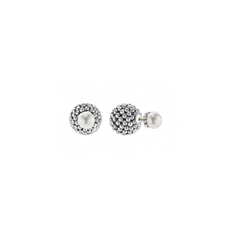 LAGOS Signature Caviar Pearl Front-Back Earrings