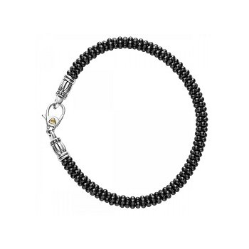 Black Caviar Beaded Bracelet