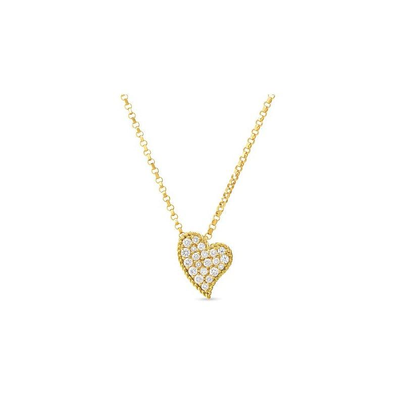 Roberto Coin 18KT Gold Diamond Heart Necklace