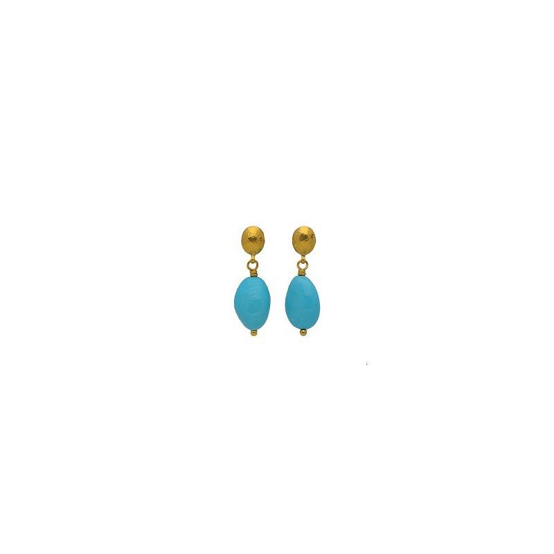 Gurhan Oval Turquoise Earrings