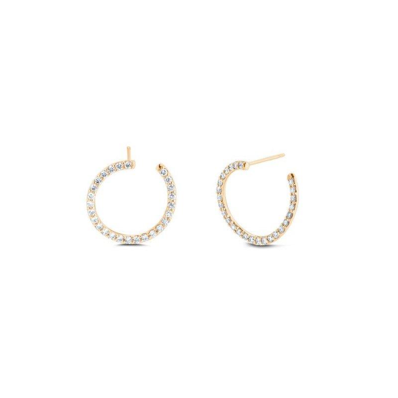 Carbon & Hyde Swirl Diamond Earrings