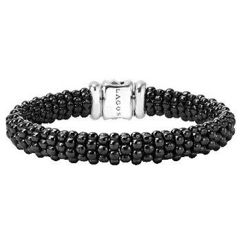 Black Caviar Beaded Bracelet