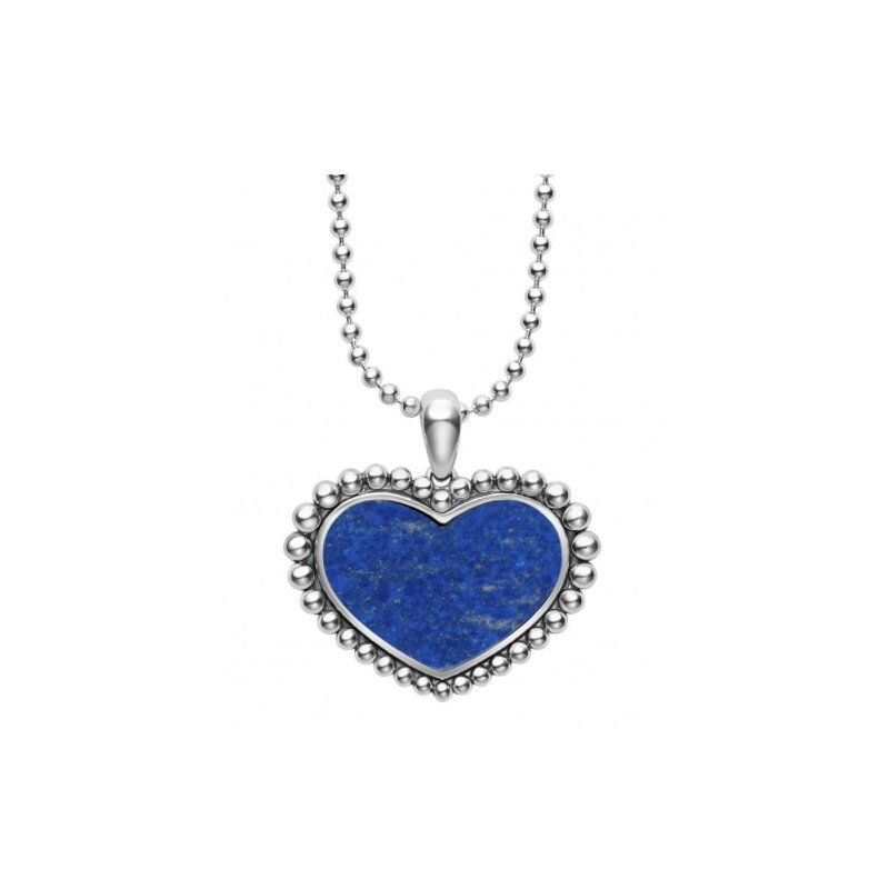 LAGOS Lapis Heart Necklace