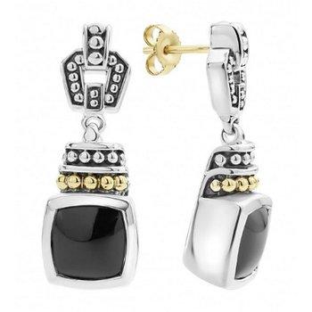 Caviar Color Gemstone Drop Earrings