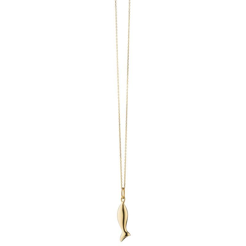 "Monica Rich Kosann Fish Necklace Length 16"" adjustable to 17"""
