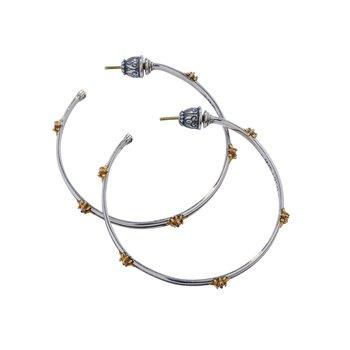 Star Axis Large Hoop Earrings