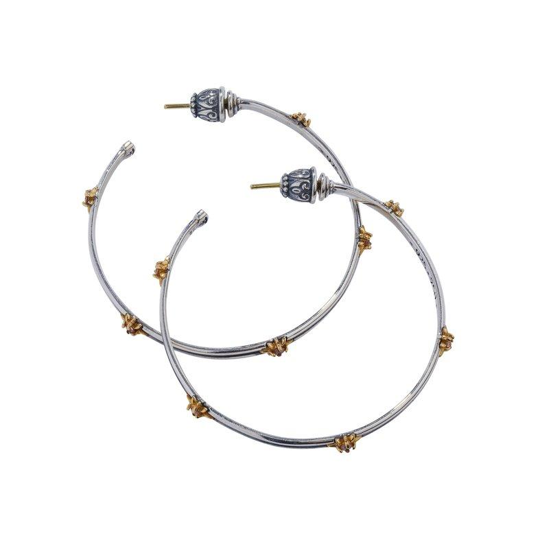 Konstantino Star Axis Large Hoop Earrings