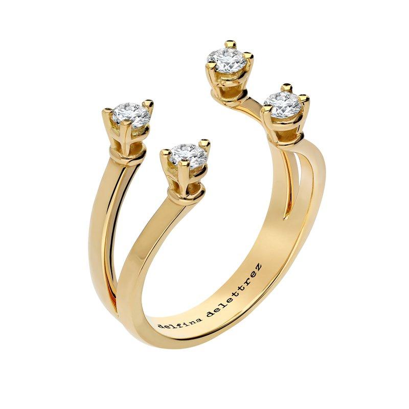 Delfina Delettrez Open Ring Size 7