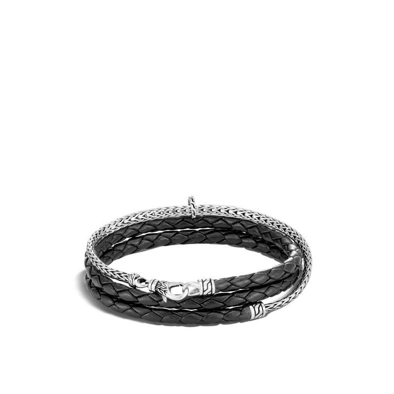 John Hardy Triple Wrap Bracelet Size Medium 3.5-4mm