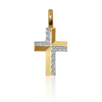Mini Cross Charm