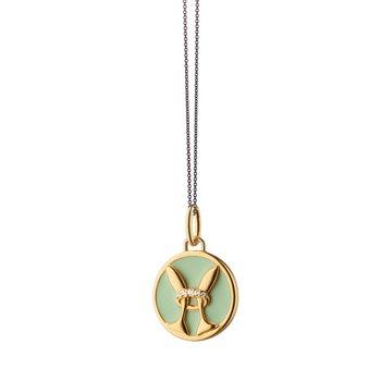 """Mini Pisces Charm Necklace 17"""" Length"""