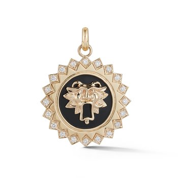 Mabel Guardian Lion Medallion Pendant