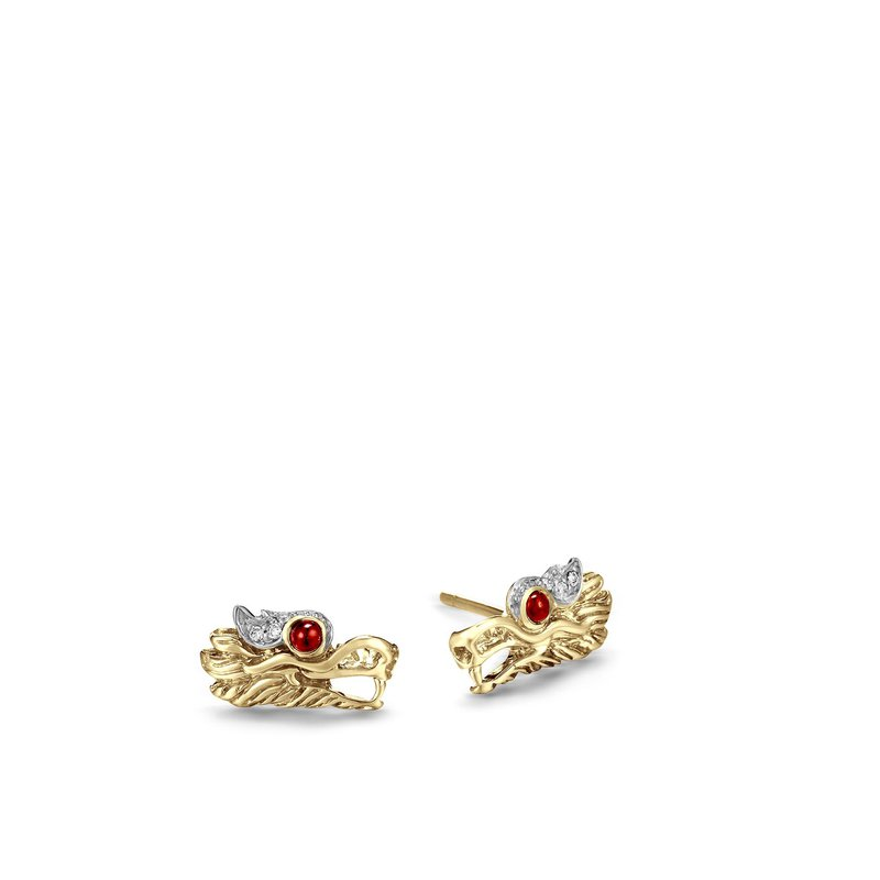 John Hardy Dragon Earrings