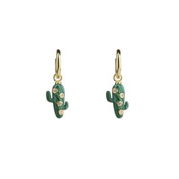 MIni Cactus Hoop Earrings