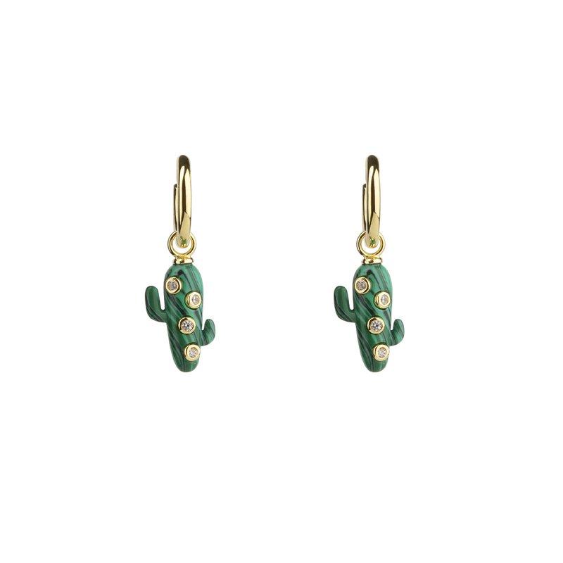 Eshvi MIni Cactus Hoop Earrings