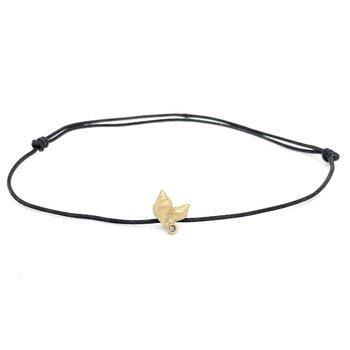 Small Shell Black Cord Bracelet