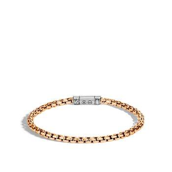 Men's Box Chain Bracelet Size Medium