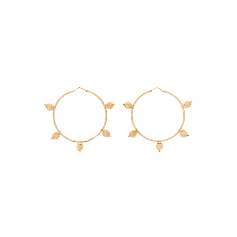 Carolina Bucci Hoop Earrings Size Medium