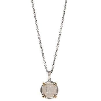 """18mm Mercury Dime Necklace 24"""" Length"""
