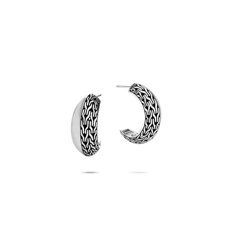 John Hardy Hoop Earrings Size Small 19.5mm