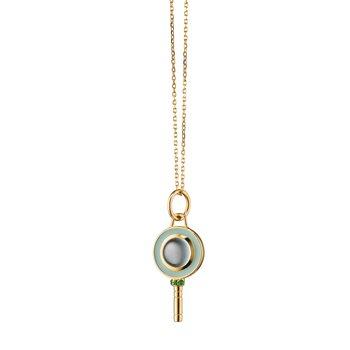"Mini Round Key Necklace 17"" Length"