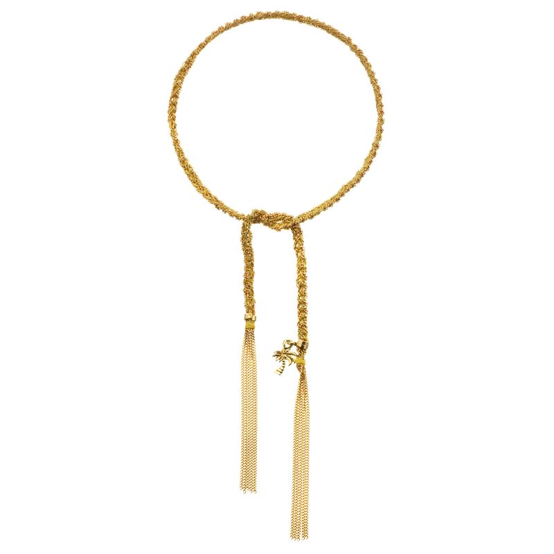 Carolina Bucci Palm Tree Charm Bracelet